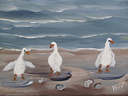 Beverly Livingstone - Seagulls at the beach