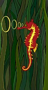 Fish Digital Art Originals - Seahorse by Ana Balazic