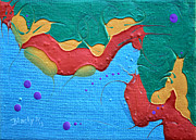 Seahorse Paintings - Seahorse by Donna Blackhall