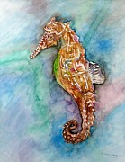 E White Framed Prints - Seahorse Framed Print by E White