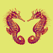 Seahorse Metal Prints - Seahorses In Love Metal Print by Jane Schnetlage
