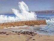 Crashing Surf Paintings - Seal Pool by Gloria Johnson