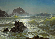 Famous Artists - Seal Rock California by Albert Bierstadt