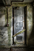 Urban Exploration Posters - Sealed door - The Old door Poster by Gary Heller