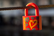 Padlock Framed Prints - Sealed Love Framed Print by Davorin Mance
