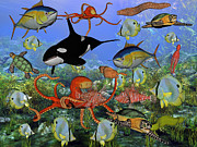 Killer Posters - Sealife Dreamland Poster by East Coast Barrier Islands Betsy A Cutler