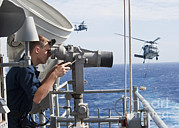 Enterprise Framed Prints - Seaman Apprentice Stands Watch Aboard Framed Print by Stocktrek Images