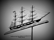 Weathervane Prints - Seamans Bethel Weathervane  Print by Kathy Barney