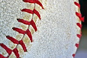Baseball Seams Photo Metal Prints - Seams Metal Print by Bill Owen