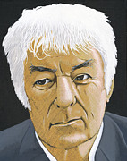 Writer Painting Originals - Seamus Heaney by Martin Keaney