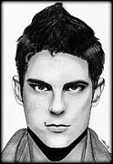 Sean Faris Print by Saki Art