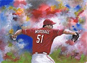 Cincinnati Paintings - Sean Marshall by Jerry Bates
