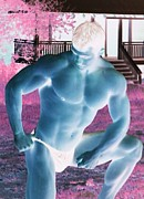 Fitness Models Digital Art Posters - Sean Patrick Alien Muscle Poster by Jake Hartz