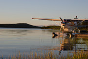 Midsummer Prints - Seaplane at lake Inari Print by Intensivelight
