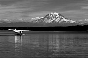 Seaplane Prints - Seaplane in the Sound Print by Benjamin Yeager