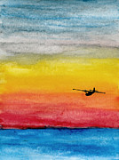 Aviator Painting Posters - Searching the Vastness - PBY Catalina on patrol Poster by R Kyllo