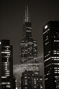 Chicago Photography Posters - Sears or Willis Tower in Chicago  Poster by John McGraw