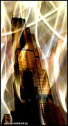 Willis Tower Digital Art - Sears Tower Mystic Sky by Ellen Cannon