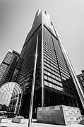 Tallest Framed Prints - Sears Willis Tower Chicago Black and White Picture Framed Print by Paul Velgos