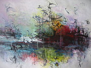 Landscap Painting Originals - Seascape 000013 by Seon-Jeong Kim