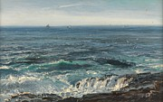Horizon Metal Prints - Seascape 1877 Metal Print by Henry Moore