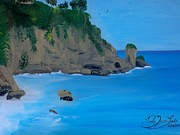Nicole Jean-louis Paintings - Seascape 2 by Nicole Jean-Louis