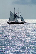 Sailboat Ocean Framed Prints - Seascape Framed Print by Anonymous