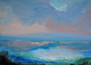 League Painting Prints - Seascape Calm Print by Patricia Kimsey Bollinger