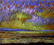Crows Paintings - Seascape  I by John  Nolan