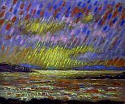 Crows Paintings - Seascape   II by John  Nolan