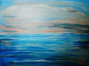 Marie Bulger - Seascape in Pink and Blue