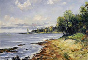Romania Paintings - Seascape by Petrica Sincu