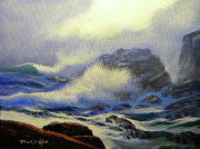 Crashing Waves Paintings - Seascape Study 8 by Frank Wilson