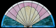 Asian Glass Art - Seashell-Fan Arch by Julie Turner