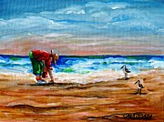 Gulf Of Mexico Painting Originals - Seashells by the Seashore by Carol Allen Anfinsen