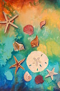 Seashell Art Prints - Seashells fantasy Print by Gabriela Valencia