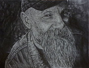 Hyperrealistic Prints - Seasick Steve  Print by Rebekah Williamson