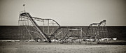 Seaside Heights Prints - Seaside After Sandy Print by Mark Miller