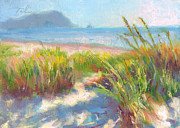 Surf Artist Paintings - Seaside Afternoon by Talya Johnson