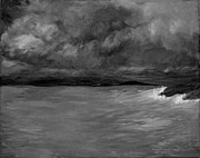 El Mar Art - Seaside bw by Elizabeth Sullivan