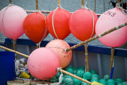 Buoys Prints - Seaside Colors Print by Frank Tschakert