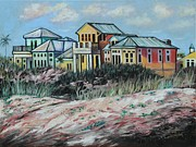 St. Augustine Paintings - Seaside Cottages by Eve  Wheeler