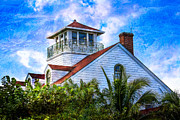 Florida House Prints - Seaside Print by Debra and Dave Vanderlaan