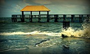 Ali Dover Metal Prints - Seaside dock Metal Print by Ali Dover