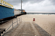 Storm Prints Photos - Seaside Heights Beach by John Rizzuto