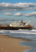 Roller Coaster Posters - Seaside Heights Roller Coaster 2 Poster by Photoart BySaMi