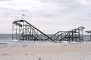 Superstorm Sandy Framed Prints - Seaside Hts Roller Coaster Framed Print by Melinda Saminski
