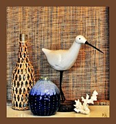 Sandpiper Digital Art Posters - Seaside Images Still Life Poster by Marsha Heiken