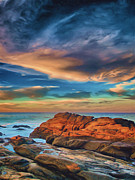 Sunset Seascape Prints - Seaside Print by Joel Olives