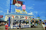Seaside Heights Painting Prints - Seaside Memories Print by Daniel Carvalho